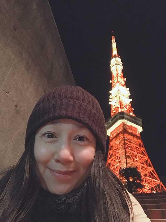夜の東京タワーにお散歩